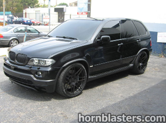armen 39 s 2005 bmw x5 train horn install. Black Bedroom Furniture Sets. Home Design Ideas