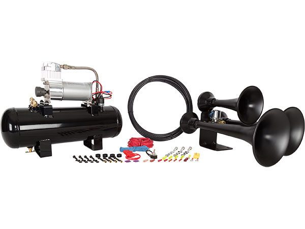 Outlaw 228V Black Train Horn Kit